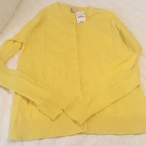 J.Crew yellow cardigan